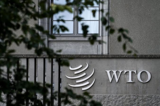 Вывеска Всемирной торговой организации (ВТО) видна на штаб-квартире в Женеве, Швейцария, 21 сентября 2018 г. (Fabrice Coffrini / AFP via Getty Images) | Epoch Times Россия