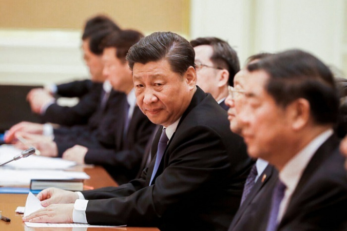 Президент Китая Си Цзиньпин (в центре) на переговорах в президентском дворце в Нейпьидо, Бирма, 18 января 2020 г. (NYEIN CHAN NAING / POOL / AFP via Getty Images ) | Epoch Times Россия