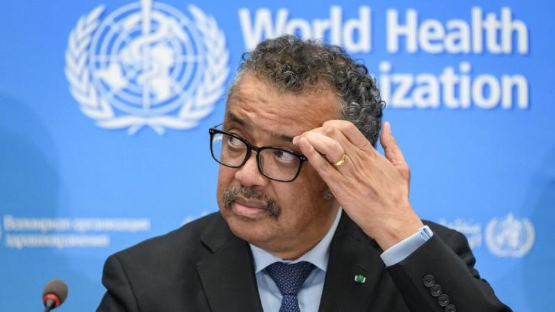 Генеральный директор Всемирной организации здравоохранения (ВОЗ) Тедрос Адханом Гебрейесус на пресс-конференции в штаб-квартире ВОЗ в Женеве 24 февраля 2020 г. (Fabrice Coffrini/AFP via Getty Images)  | Epoch Times Россия