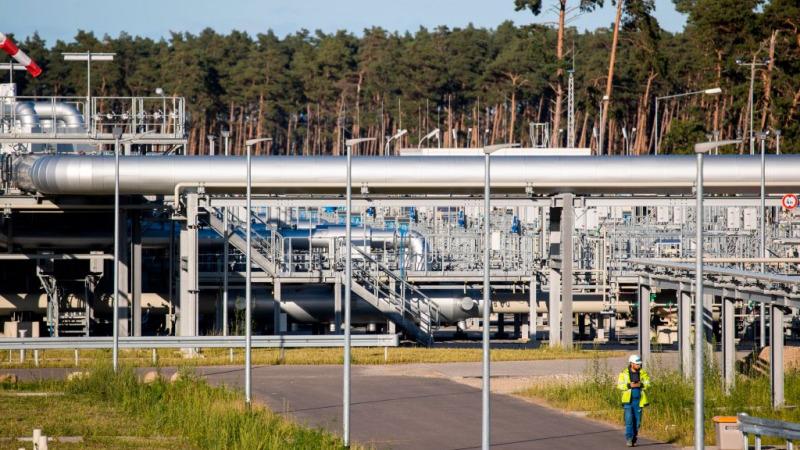 Выход на берег газопровода «Северный поток-2» в Любмине на северо-востоке Германии, 7 сентября 2020 г. Photo by ODD ANDERSEN/AFP via Getty Images   Epoch Times Россия