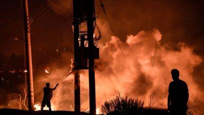 Вслед за наводнениями Европу охватили лесные пожары (Видео)