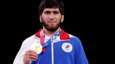 Российский борец Заур Угуев  стал золотым медалистом Олимпиады