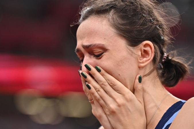 Легкоатлетка Мария Ласицкене завоевала золото в прыжках в высоту. Фото: BEN STANSALL/AFP via Getty Images | Epoch Times Россия