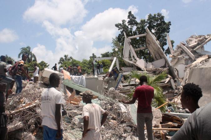 Землетрясение в Ле Ке, Гаити, 14 августа 2021 года. Photo by STANLEY LOUIS/AFP via Getty Images | Epoch Times Россия