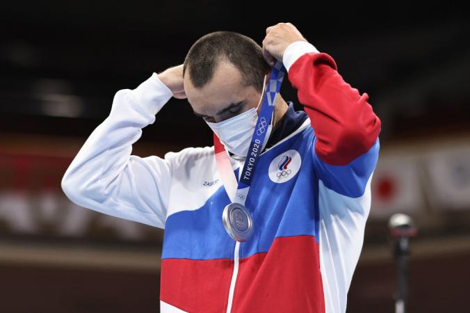 Российский боксёр Муслим Гаджимагомедов — серебряный призёр Олимпиады.  Фото: Buda Mendes/Getty Images   Epoch Times Россия
