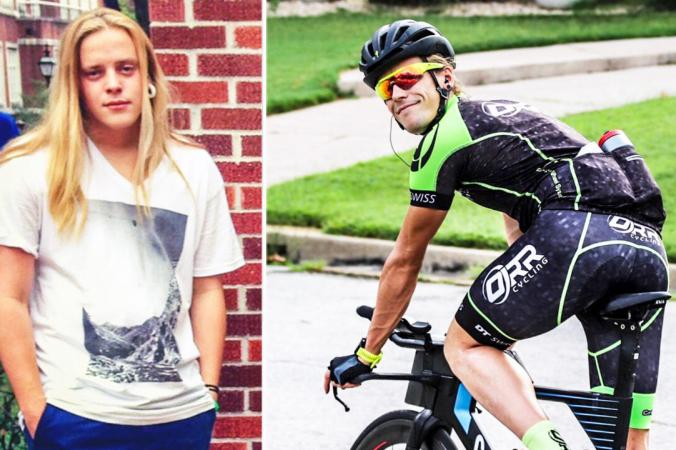 Ноэль Малки, в школьные годы употреблявший наркотики, с хорошим результатом финишировал в триатлоне Ironman в Талсе в 2021 году, что дает ему возможность участвовать в чемпионате мира Ironman на Гавайях (любезно предоставлено Ноэлем Малки) | Epoch Times Россия