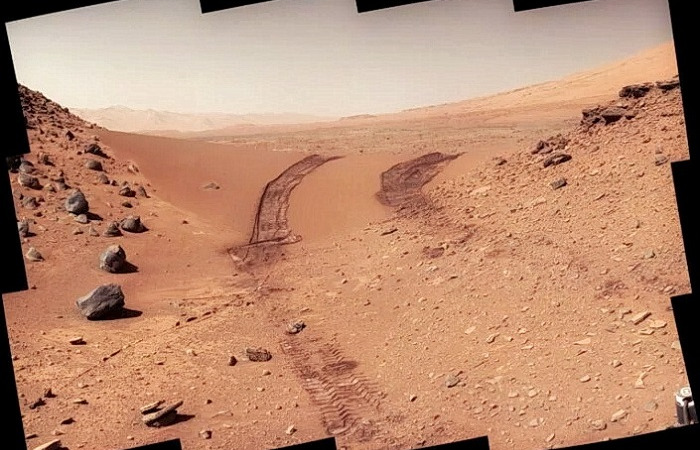 Красная планета, снятая марсоходом Curiosity. (Изображение: NASA / JPL-CALTECH / MSSS)  | Epoch Times Россия
