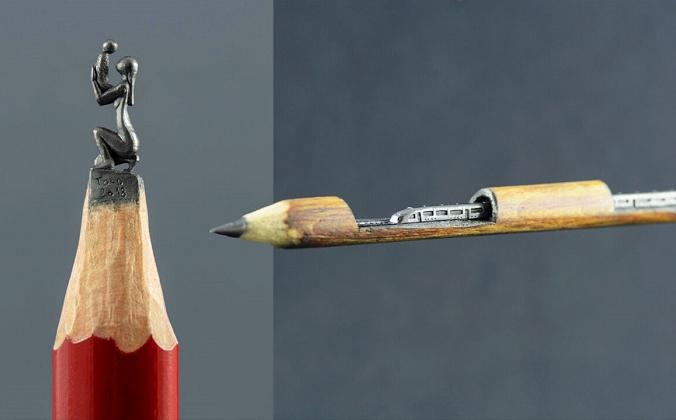 Миниатюрные скульптуры из грифеля «карандаш» Ясенко Джорджевича (любезно предоставлено TOLDart) | Epoch Times Россия