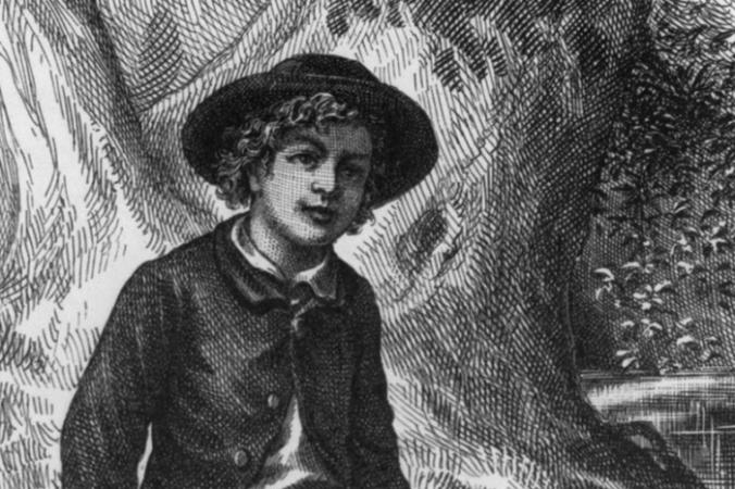 У немногих мальчиков было столько приключений, сколько у Тома Сойера у Марка Твена. Фрагмент фронтисписа первого издания 1876 года из