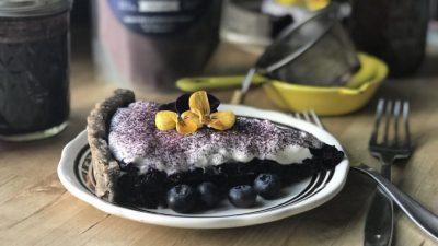 Пирог с черникой и базиликом