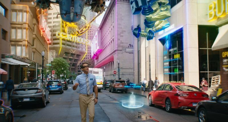 Райан Рейнольдс, изначально не осознает, что он всего лишь алгоритм – «неигровой персонаж» в вымышленной видеоигре «Свободный город», фильм «Главный герой» (Студия Двадцатый век) | Epoch Times Россия