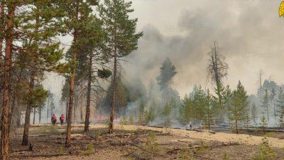 В Якутии огонь подошёл вплотную к селу Кылайы