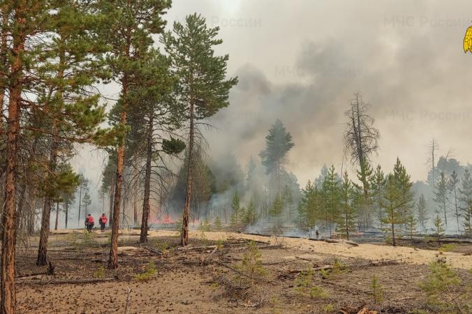 Тушение пожара в Якутии. 14.mchs.gov.ru/CC BY 4.0 | Epoch Times Россия