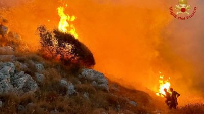 Лесной пожар вспыхнул квостоку отРима, местные жители эвакуированы