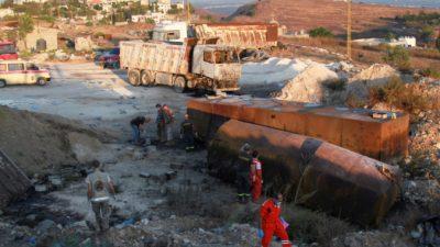 В Ливане при взрыве топливного бака погибли 22 человека