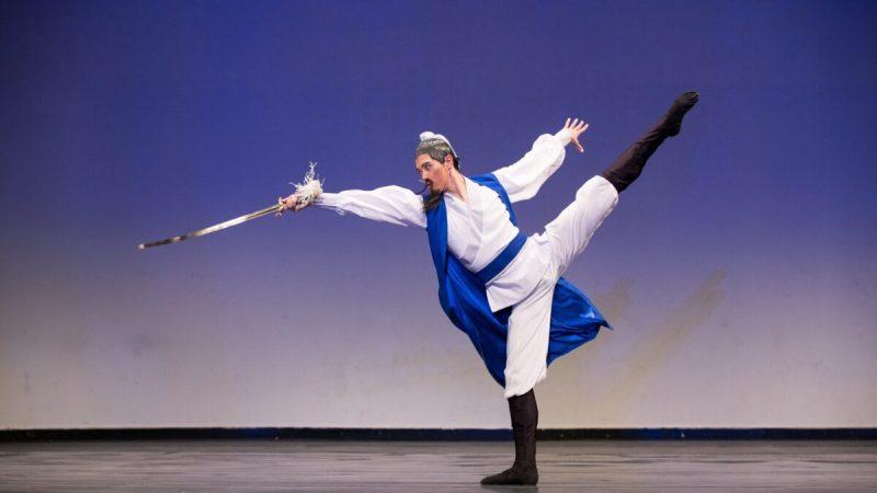 Монти Моу изображает китайского поэта Ли Бая на восьмом ежегодном Международном конкурсе классических китайских танцев NTD. (Dai Bing/ The Epoch Times) | Epoch Times Россия