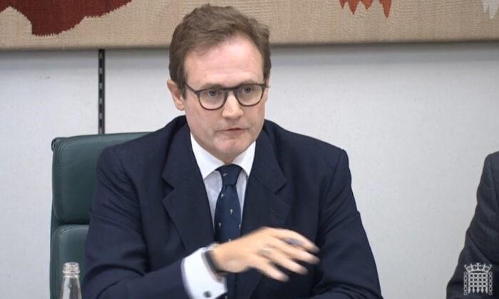 Председатель комитета по иностранным делам в Палате общин Том Тугендхат, Лондон, 1 сентября 2021 года. House of Commons/Screenshot via PA   Epoch Times Россия