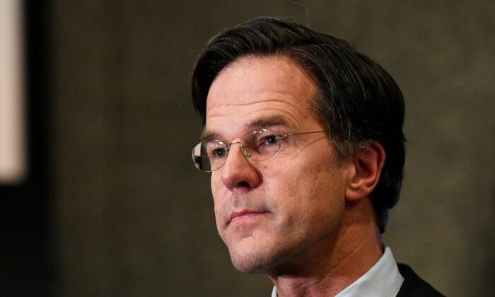 Премьер-министр Нидерландов Марк Рютте во время всеобщих выборов в Нидерландах в Гааге, Нидерланды, 17 марта 2021 г. Piroschka Van De Wouw / Pool via Reuters   Epoch Times Россия