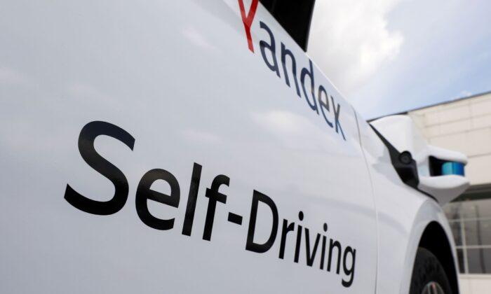 Беспилотный автомобиль, разработанный «Яндексом» совместно с Hyundai, на мероприятии в Москве, Россия, 27 мая 2020 г. Shamil Zhumatov/Reuters | Epoch Times Россия