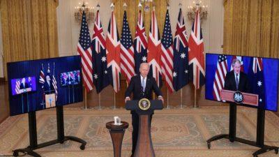 США, Великобритания и Австралия объединились в военный союз AUKUS