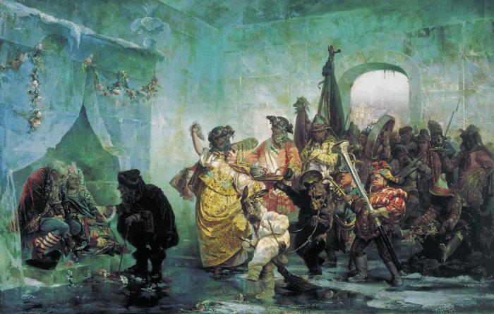 Валерий Якоби «Ледяной дом», 1878 год. Фото: kartinysistoriey.ru/ общественное достояние