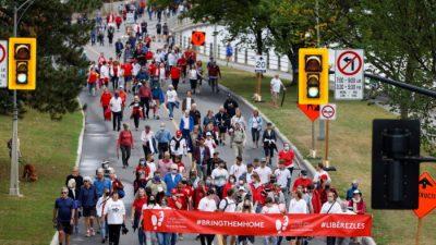 В Канаде прошёл митинг в ознаменование 1000 дней с момента ареста канадцев в Китае