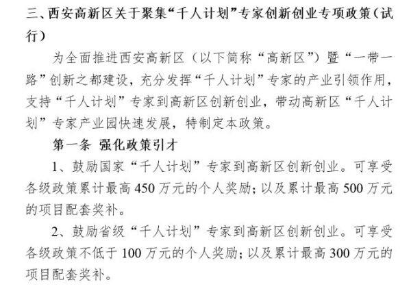 Скриншот просочившегося документа китайского режима под названием «Справочная информация 2018 г. о бизнес-парке экспертов Программы тысячи талантов в районе Гаосинь города Сиань». The Epoch Times
