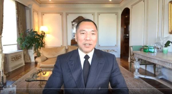 Китайский миллиардер Го Вэнгуй разоблачает проступки высокопоставленных китайских чиновников во время одной из своих прямых трансляций на YouTube. Скриншот с YouTube / Guo Wengui