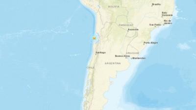 Землетрясение произошло на севере Чили магнитудой 5,8