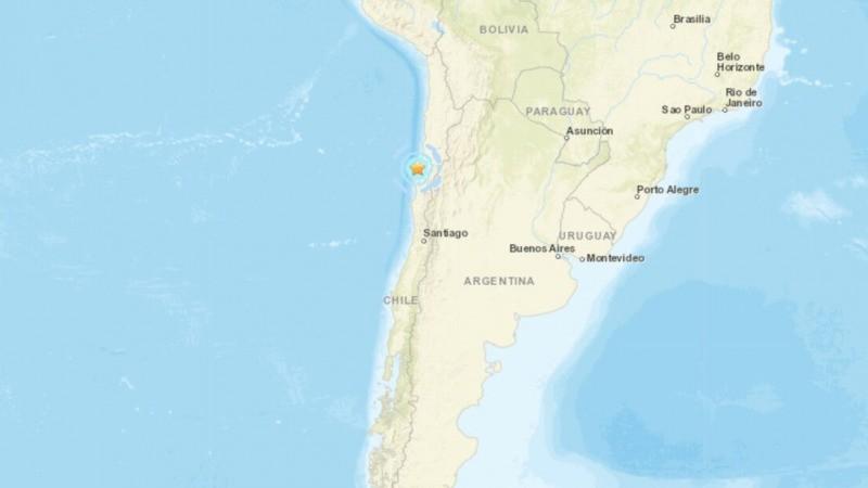 Карта, показывающая место землетрясения, произошедшего у побережья северного Чили 1 сентября 2021 г. (Google Maps) | Epoch Times Россия