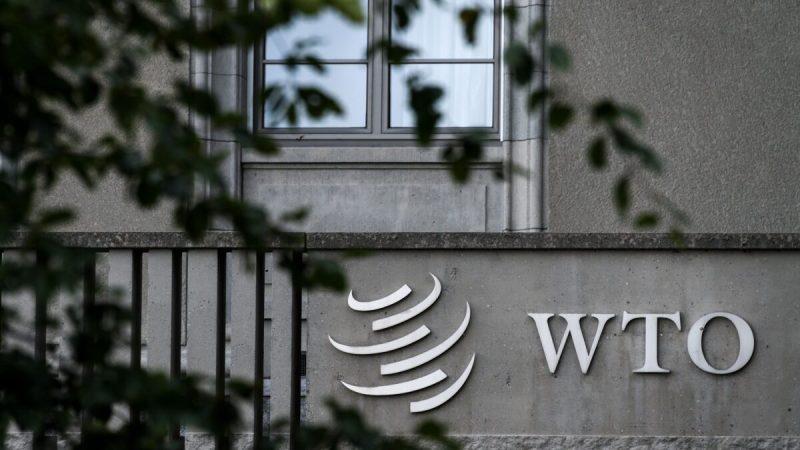 Вывеска Всемирной торговой организации (ВТО) на её штаб-квартире в Женеве 21 сентября 2018 г. (Fabrice Coffrini/AFP via Getty Images) | Epoch Times Россия