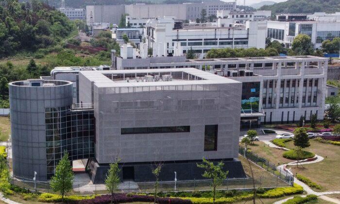 Аэрофото лаборатории P4 Уханьского института вирусологии в городе Ухане провинции Хубэй в центральном Китае 17 апреля 2020 г. (Hector Retamal/AFP/Getty Images)