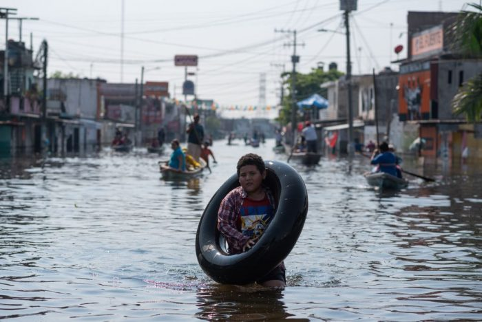 Сильные дожди вызвали наводнение в Мексике. Четверо погибли