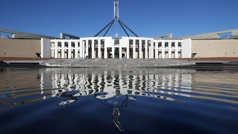 Общий вид здания парламента в условиях изоляции в Канберре, Австралия, 14 августа 2021 года. (Gary Ramage/Getty Images)   | Epoch Times Россия