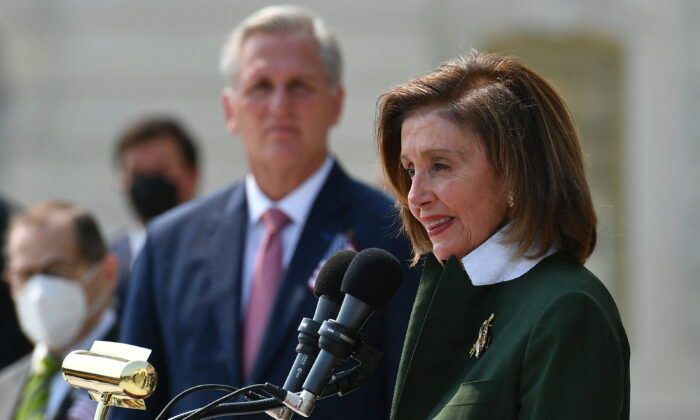 Спикер Палаты представителей Нэнси Пелоси (штат Калифорния) в Палате представителей Конгресса, Вашингтон, 13 сентября 2021 г. (Mandel Ngan / AFP via Getty Images)   Epoch Times Россия
