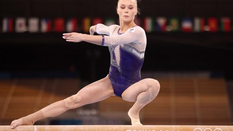 Российская гимнастка Ангелина Мельникова на Олимпиаде в Токио. Фото Джейми Сквайра / Getty Images | Epoch Times Россия