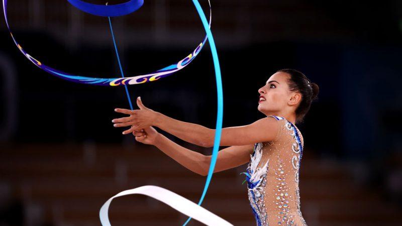 Чемпионка Олимпийских игр в Токио израильская гимнастка Линой Ашрам. Фото Лоуренса Гриффитса / Getty Images   Epoch Times Россия
