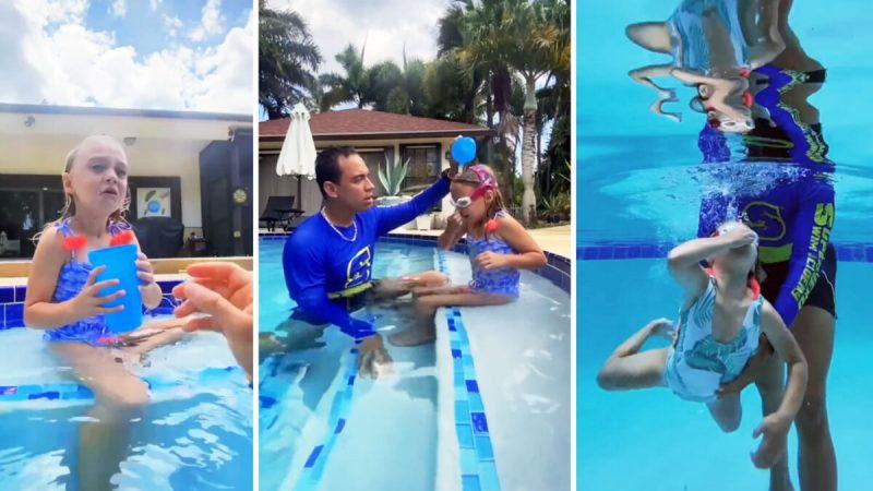 Джейкоб утверждает, что его метод обучения, который помогает маленьким детям акклиматизироваться в воде, гарантированно работает с каждым ребёнком. (С любезного разрешения Jacob Siegel)  | Epoch Times Россия