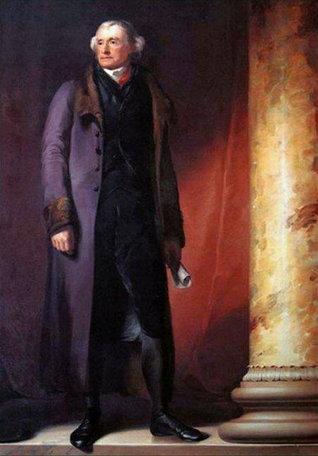 Портрет Томаса Джефферсона, Томас Салли, 1821 г. (Public Domain)