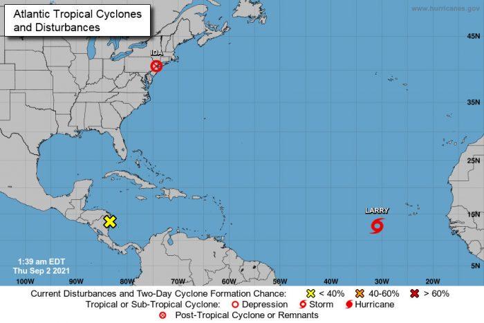 Тропический шторм «Ларри» может перерасти в ураган к субботе