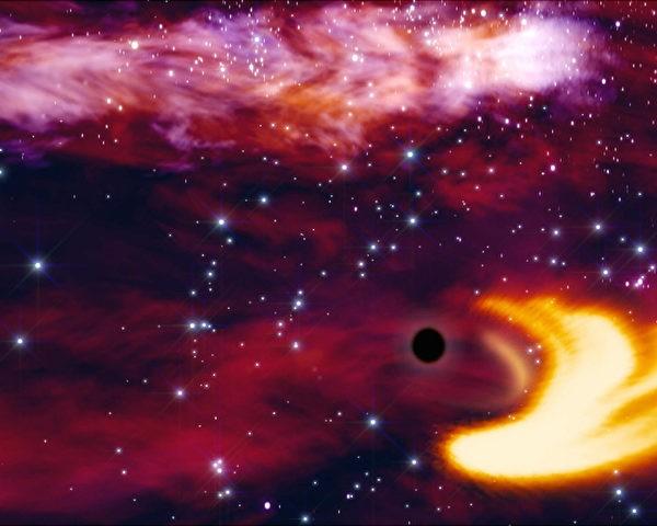 На снимке изображена чёрная дыра. (ESA/AFP)