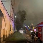В Москве всю ночь полыхал пожар в казарме Военного университета