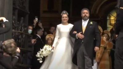 На церемонии венчания потомка Романовых в Санкт-Петербурге присутствовали монаршие особы