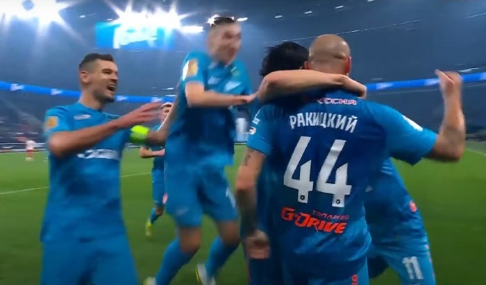 Спартак потерпел крупнейшее поражение от Зенита со счётом 1:7