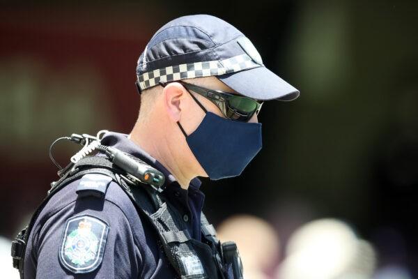 Офицер полиции Квинсленда в The Gabba в Брисбене, Австралия, 15 января 2021 г. Jono Searle / Getty Images