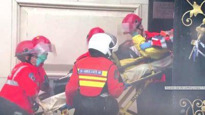 Один человек погиб во время шторма на стройке в Гонконге