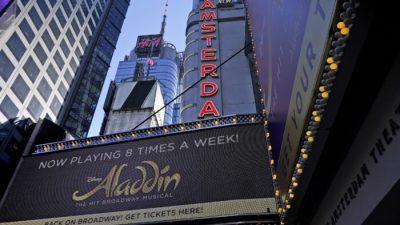 Открытие «Аладдина» на Бродвее остановили из-за заражения COVID-19