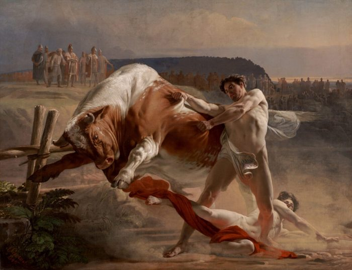 Сила самообладания: «Ян Усмовец останавливает разъярённого быка»