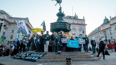 В Великобритании гонконгцы протестуют против режима в Китае