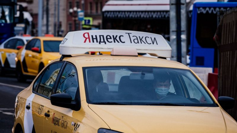 Такси в Москве 20 марта 2020 года. Фото: DIMITAR DILKOFF/AFP via Getty Images | Epoch Times Россия
